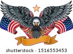 american eagle with usa flags | Shutterstock .eps vector #1516553453
