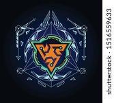 science logo. vector design...
