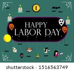 happy labor day  beautiful... | Shutterstock .eps vector #1516563749