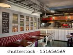 Stock photo stylish italian restaurant 151656569