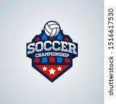 soccer football badge logo...   Shutterstock . vector #1516617530
