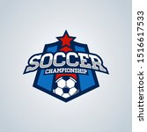 soccer football badge logo...   Shutterstock . vector #1516617533