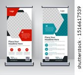 corporate rollup or x banner...   Shutterstock . vector #1516617539