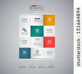 minimal infographics design.... | Shutterstock .eps vector #151664894