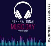 happy international music day... | Shutterstock .eps vector #1516687916