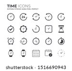time and clock icons set.... | Shutterstock .eps vector #1516690943