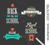 back to school colorful vintage ... | Shutterstock . vector #151673750