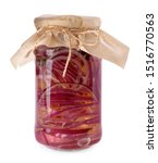 Jar Of Pickled Onions Isolated...