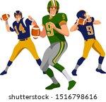 american football team players... | Shutterstock .eps vector #1516798616