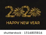 happy new year 2020 gold text...   Shutterstock .eps vector #1516805816