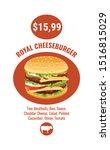 double royal burger brochure...   Shutterstock .eps vector #1516815029