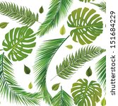 seamless repeat leaves | Shutterstock .eps vector #151684229