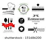 restaurant labels set  ... | Shutterstock .eps vector #151686200