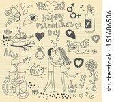 romantic vector set. a lot of... | Shutterstock .eps vector #151686536