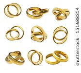 gold wedding ring with diamond...   Shutterstock . vector #151688354