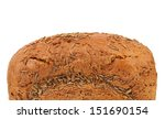 Top of rye bread with caraway seed. - stock photo