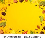 halloween and autumn leaf...   Shutterstock . vector #1516928849