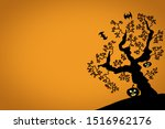 horrible bogeys and scary... | Shutterstock . vector #1516962176