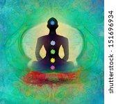 Yoga Lotus Pose. Padmasana Wit...