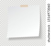 white note paper with sticky... | Shutterstock .eps vector #1516973060