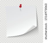 blank note papers  pinned with...   Shutterstock .eps vector #1516973063