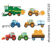 Isolated Set Of Agricultural...