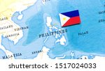The Flag Of Philippines In The...