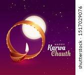 indian karwa chauth festival... | Shutterstock .eps vector #1517029076