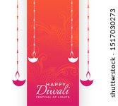 happy diwali holiday festival... | Shutterstock .eps vector #1517030273