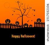 halloween evening   jack o... | Shutterstock . vector #1517032106