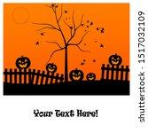 halloween evening   jack o... | Shutterstock . vector #1517032109