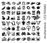 vector black farm icon set on... | Shutterstock .eps vector #151703483