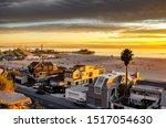 Sunset Over Santa Monica Beach  ...