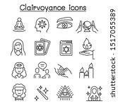 clairvoyance  fortune teller... | Shutterstock .eps vector #1517055389