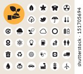 eco energy icons set... | Shutterstock .eps vector #151705694