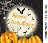 halloween background with... | Shutterstock .eps vector #151708403