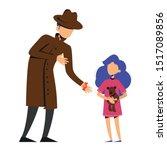 pedophilia  stranger pedophile... | Shutterstock .eps vector #1517089856
