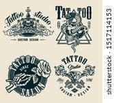 vintage tattoo studio... | Shutterstock .eps vector #1517114153