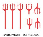 pattern with a trident. trident ... | Shutterstock .eps vector #1517130023