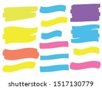 yellow colored highlighter.... | Shutterstock .eps vector #1517130779