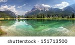 mount steven reflects into pond ... | Shutterstock . vector #151713500