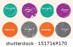 grunge post stamps collection ... | Shutterstock .eps vector #1517169170