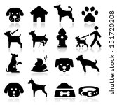 Stock vector dog icons 151720208