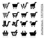 shopping cart icons | Shutterstock .eps vector #151720226