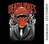 death jokes neon series... | Shutterstock .eps vector #1517230859