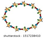 ellipse frame with cheerful... | Shutterstock .eps vector #1517238410