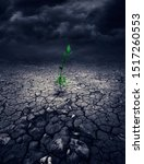 A Conceptual Photo Of Green...