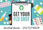 get your flu shot vaccination...   Shutterstock .eps vector #1517274029