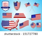 usa set   vector  | Shutterstock .eps vector #151727780