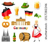 german icons set. germany... | Shutterstock .eps vector #1517282246